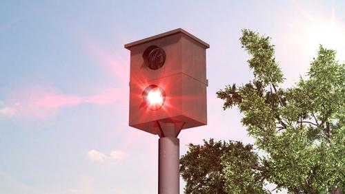 Een snelheidscamera heeft net een auto geflitst - Boetecalculator